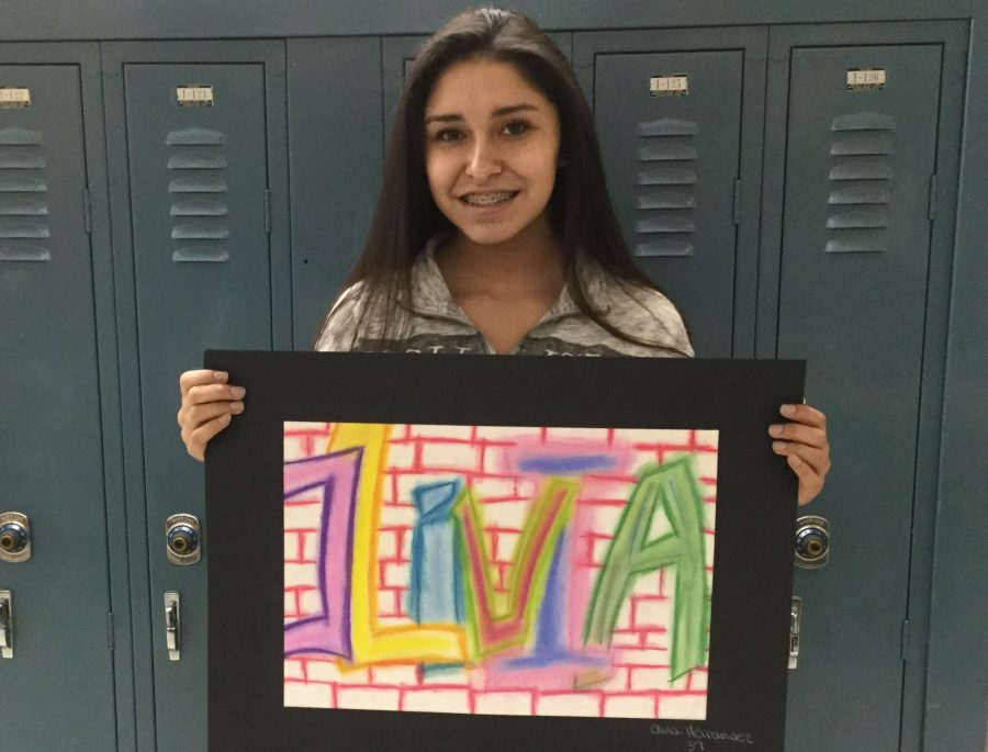 This week for ETC eighth grader Olivia Hernandez discusses her piece entitled Graffiti Art.