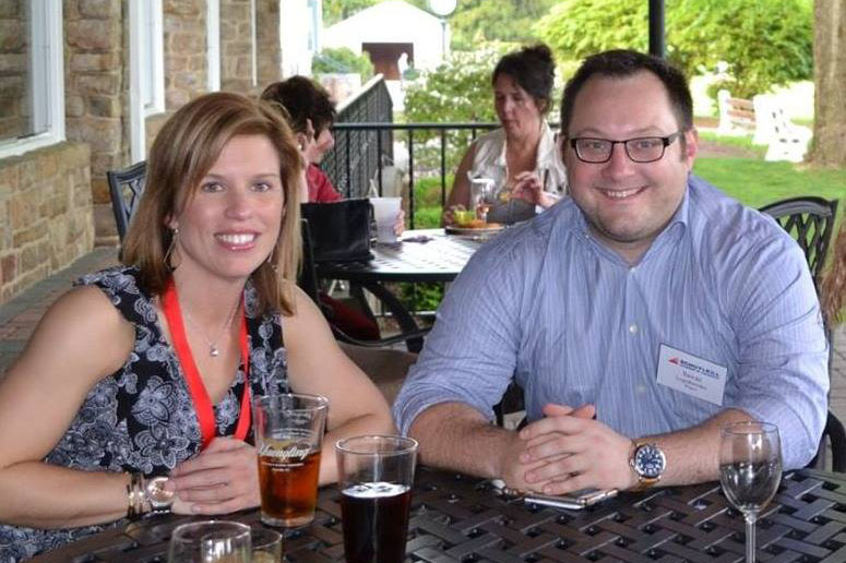 Savas and his fiancé Kelly at a Chamber of Commerce event.