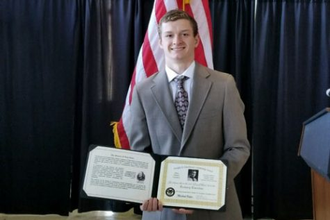 """ACHIEVE — As the college search process kicks off for the junior class, junior Zach Turnitza has his sights set on a military academy. He is the 2018 PAHS recipient of the Dwight D. Eisenhower Leadership Award, which is given to a student who demonstrates excellence in the areas of academics, leadership, community service and athletics. """"The Dwight D. Eisenhower award was more of a wake-up call than an award for me,"""" Turnitza said. """"When I walked onto the campus, it suddenly hit me that I had to start to focus more on school and sports and cut out the extra in my life if I wanted to get into a service academy. [West Point] was a very nice school, and it wouldn't be a bad place to call home for the next four years. Turnitza traveled with his family to West Point, NY, for an April 21 awards ceremony held at the university to honor him along with other recipients."""