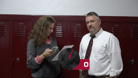 Alexis Yoder questions Mr. Sterner in game of 60 Seconds.