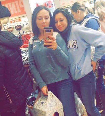 "Pottsville graduate Katelyn Borrell and junior Tiarra Nelson shop at Victoria's Secret. Victoria's Secret had a lot of great deals. ""Black Friday shopping was fun and I enjoyed it,"" said Tiarra Nelson."