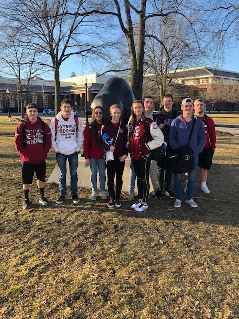 PAHS swimming and diving state qualifiers traveled to Bucknell to compete at the 2019 PIAA State Championships. Pottsville's relay teams won fifth and eighth place medals at the meet.