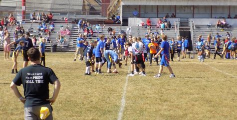 7th and 8th graders take on St. Clair in first flag football game