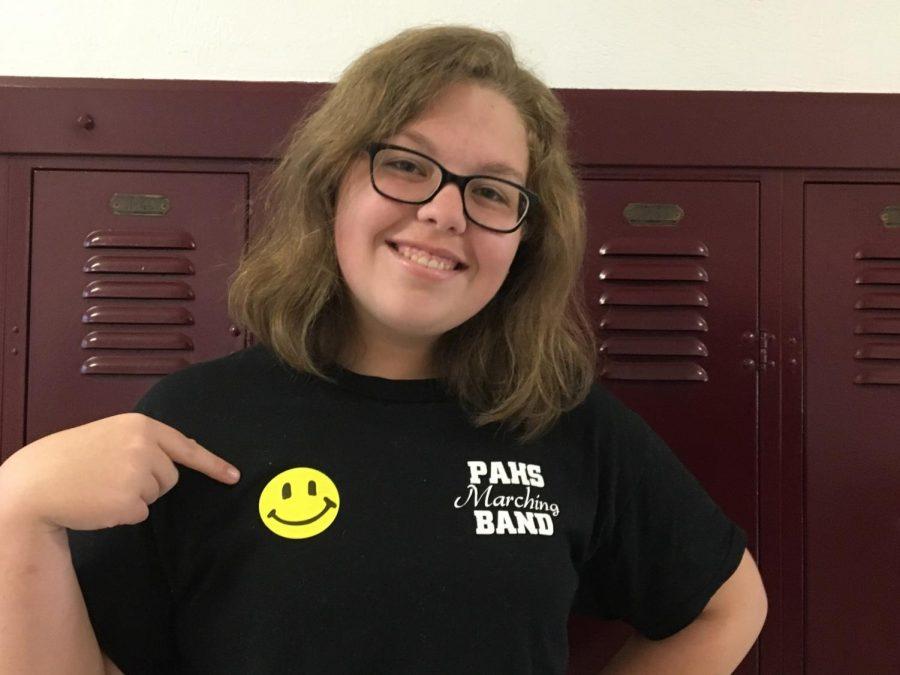 Freshman Emma Troutman wears her