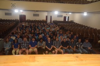 PAHS students wearing blue received an award for showing their support for  Bullying Prevention Month. Bullying is one of the main reasons students attempt suicide.