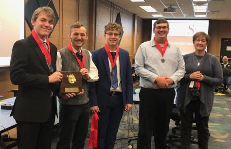 "The Quiz Team took a trip to Penn State Schuylkill to compete with other schools, and got second place. After the tournament ended, adviser Ms. Hobbs took them to McDonald's. ""It was really fun, and I enjoyed the McDonald's,"" said senior Noah Fredericks."