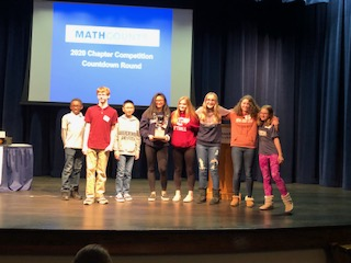 SOLVE - Members of the DHH Lengel Middle School Mathcounts Team pose after their win at Penn State Schuylkill on February 1.
