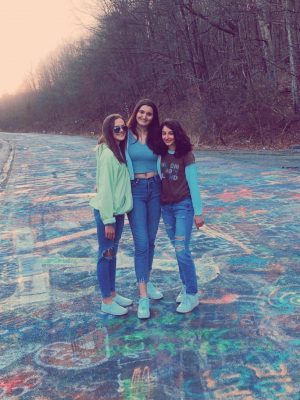Juniors Rebecca Lascala, Allison Campion and Isabella Varano traveled to Graffiti Highway in Centralia on March 15, 2020.
