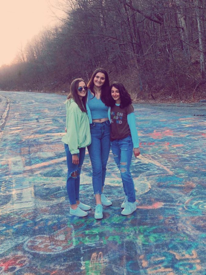 Juniors+Rebecca+Lascala%2C+Allison+Campion+and+Isabella+Varano+traveled+to+Graffiti+Highway+in+Centralia+on+March+15%2C+2020.