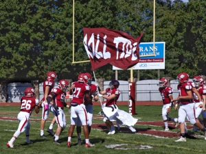 """The Pottsville Area High School football team was pumping before their game against Minersville. This year is the first year without any spectators attending because of COVID-19 regulations. """"Well honestly it's still kind of a bummer that we can't have everyone at the games but other than I think I'm kinda used to it for now. These past few games I think we showered everyone that we can bounce back from a devastating loss, there were a few mental mistakes but we came back, ROLL TIDE,"""" said junior Travontai Davis."""
