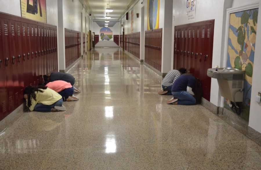 There+was+an+earthquake+drill+on+October+15%2C+2020.+Several+students+are+shown+following+procedures+for+an+earthquake+drill.+Mr.+Jeremiah+Lynn+%28not+pictured%29+said%2C+%E2%80%9CI+feel+that+the+drills+are+a+necessary+part+of+keeping+everyone+safe+in+our+building.%E2%80%9D+%0A