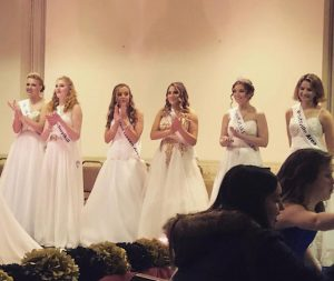 "Pictured above are the five runners up from Winter Carnival 2019. After the pageant was over everyone who participated were allowed to celebrate the new winners at St. Nicholas Hall with friends and family. ""I'm honestly so disappointed that Winter Carnival was canceled. It's completely unnecessary to take away all of the fun things that you can only experience so many times during high school. First winter prom and now this, it's just so frustrating and uncalled for. You could easily take precautions and still continue with doing the pageant. I know of so many girls that were looking forward to it, even I was and I'm not even allowed to run this year. It was my favorite opportunity that I received my junior year and being named Miss Congeniality was something so special to me. The memories I made with all of my friends were unforgettable and to have a once in a lifetime chance to participate as a junior being taken away just upsets me,"" said senior Greta Snukis."