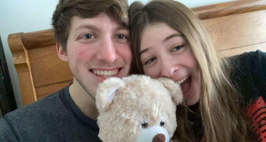 Kaylee+Becker+shared+her+Valentine%E2%80%99s+Day+with+Justin+Lescavage.+They+got+donuts%2C+ate+leftover+pizza%2C+and+played+video+games+all+morning.+Then+they+exchanged+gifts+and+celebrated+Justin%E2%80%99s+birthday+all+weekend.+%E2%80%9CMy+Valentine%27s+Day+was+really+sweet+and+I+loved+getting+to+make+the+most+of+it+considering+the+circumstances%2C%E2%80%9D+said+junior+Kaylee+Becker.